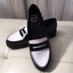 Dolce Vita Masen Loafer Black/White Stella Creeper